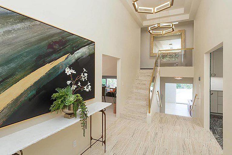 Residential architect Los Angeles home renovation foyer