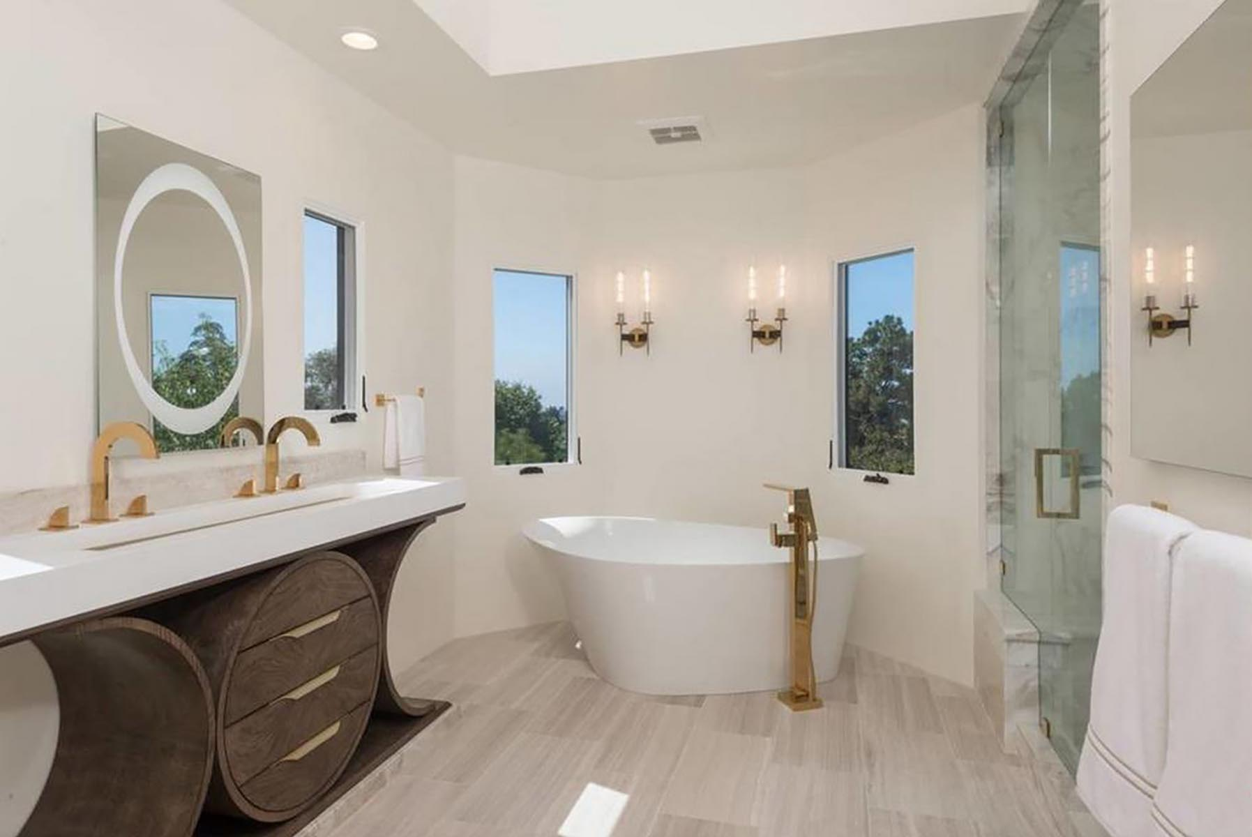 Residential architect Los Angeles home renovation master bathroom 2