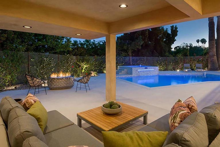 Residential architect Los Angeles home renovation outdoor living area 3
