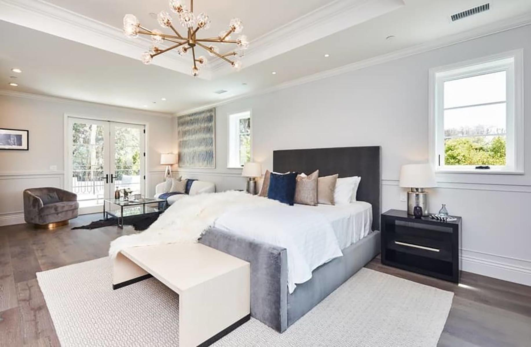 Architect home addition and remodel French contemporary style master bedroom 2