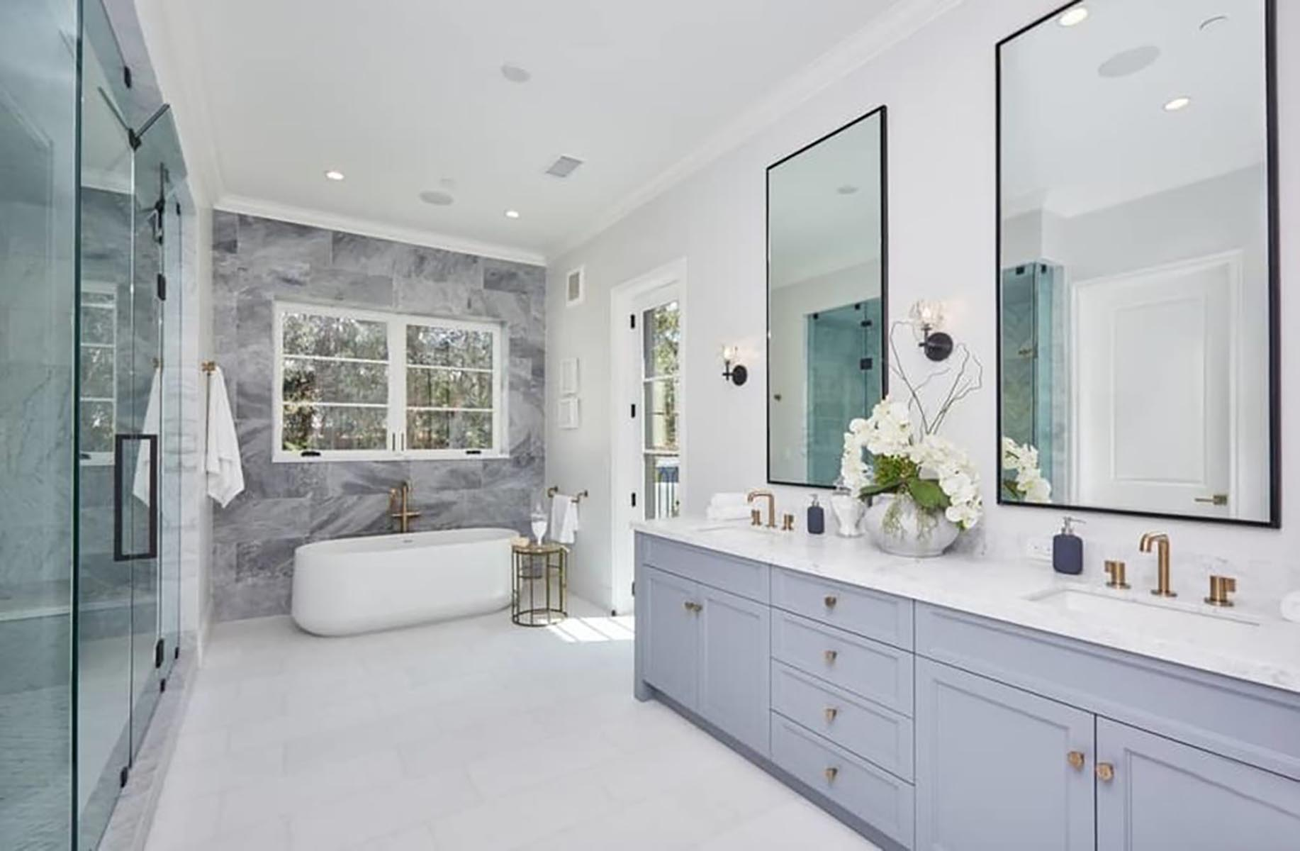 Architect home addition and remodel French contemporary style master bathroom 2
