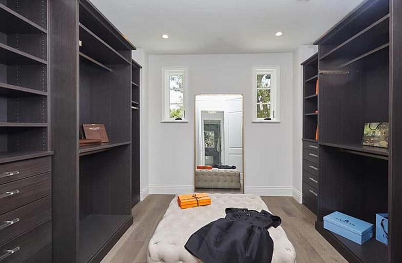 Architect home addition and remodel French contemporary style bedroom