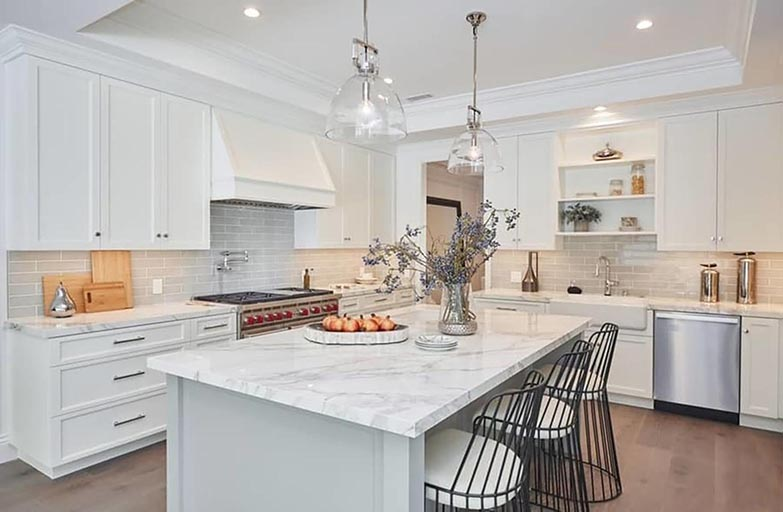 Architect home addition and remodel French contemporary style kitchen 2