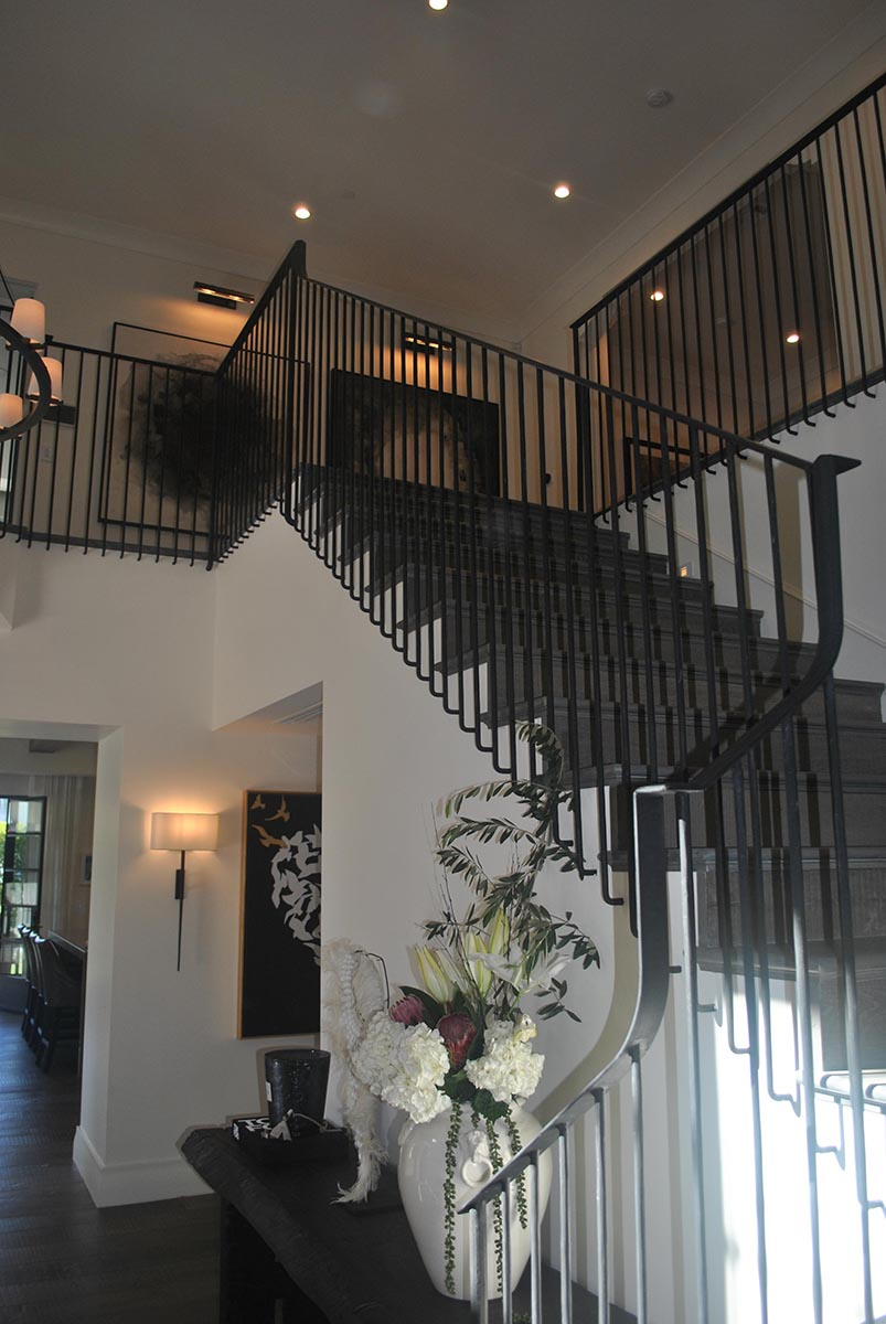 Residential design Spanish Revival home staircase 1